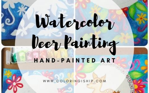 watercolor deer painting
