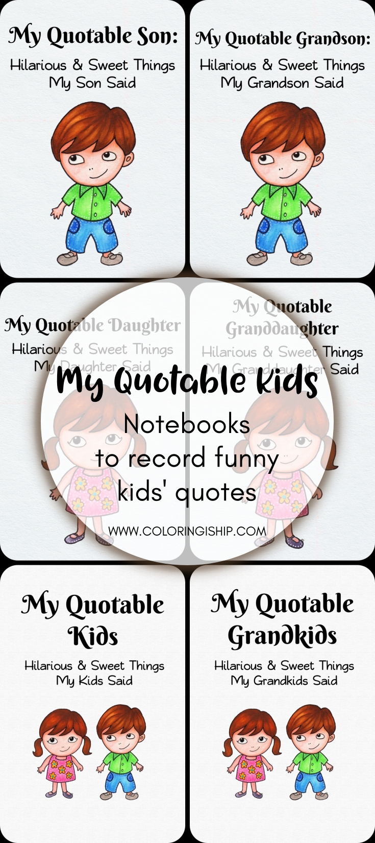 My Quotable Kids | Notebooks to Record Kids\' Funny Quotes ...