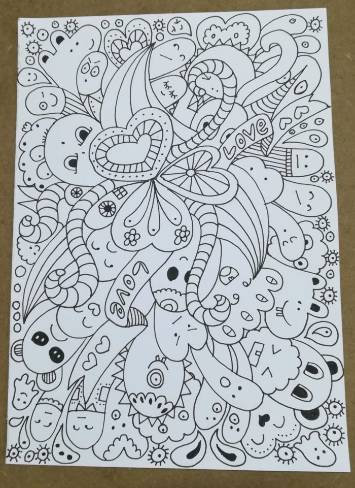 quirky monster drawing