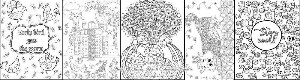 botanical adult coloring book