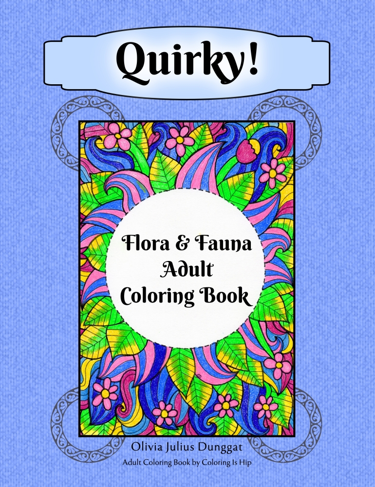 flora fauna adult coloring book