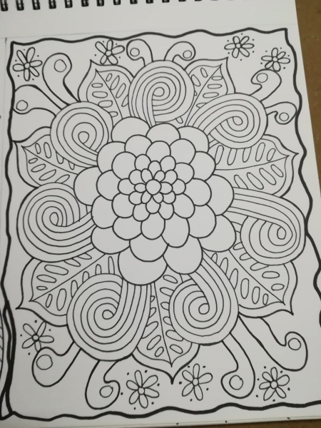 simple mandala coloring page