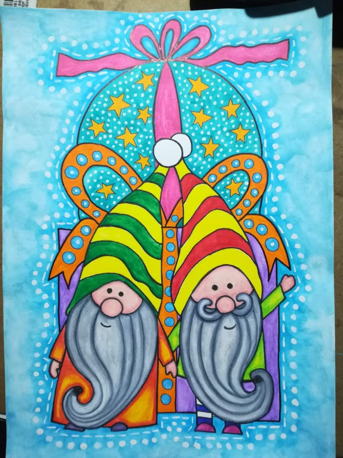 christmas gnomes art