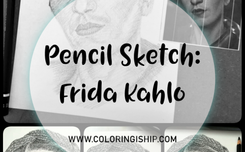 pencil sketch frida kahlo
