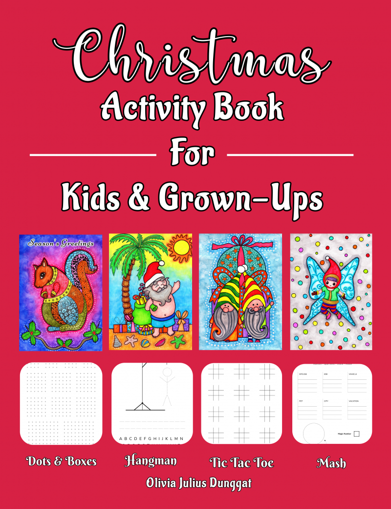 christmas activity book for kids and grownups