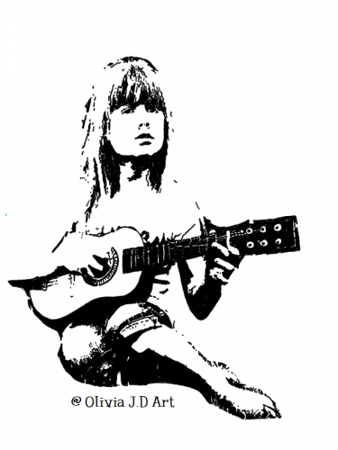 girl with guitar-ojdart